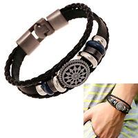 NEU Unisex Armband Geflochten Armreif Leder Armkette Surfer Bracelet Schmuck