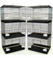 "NEW Lot of 6 Aviary Breeding Breeder Bird Cages 24x16x16""H - Black - 400"
