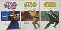 Lot of 3 Star Wars Clone Wars TPB Volumes 1 2 3 Dark Horse Graphic Novel Windu