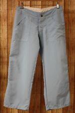 PrAna Breathe Adjustable Cropped Hiking Pants Pedal Pushers Womens XS Blue USA