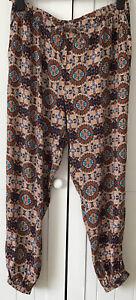 Fat Face Cuffed/Harem Trouser Size 16