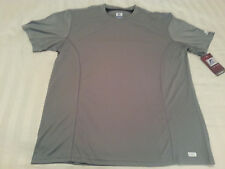 NWT Russell Athletic Shirt M GRAY Polyester Short Sleeve NEW (S112)