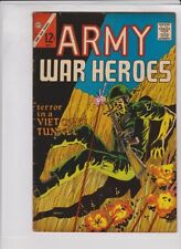 "ARMY WAR HEROES #20 VG/F, Charlton '67, ""Terror In A Viet Cong Tunnel"", Glanzman"