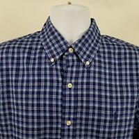RECENT Ralph Lauren Mens Blue Check L/S Dress Button Shirt Sz Medium M