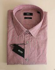 Gestreifte klassische HUGO BOSS Slim Fit-Herrenhemden