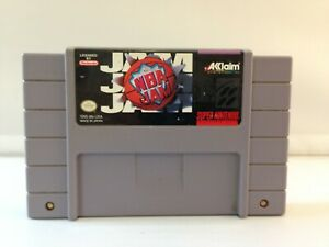 NBA JAM  SUPER NINTENDO SNS 1991 - Tested Working Authentic!