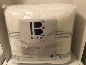 Byourbed Textured Design 68 x 90 Oversized Comforter White Twin XL & Sham New