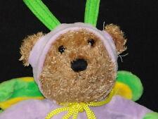 LAVENDER PURPLE PLUSH BUTTERFLY COSTUME TEDDY BEAR TOY STUFFED ANIMAL