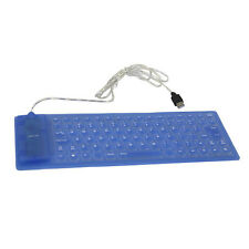 85-Keys USB Mini SMALL Flexible Silicone Keyboard Blue