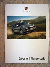 PORSCHE OFFICIAL CAYENNE S TRANSSYBERIA SALES BROCHURE 2009 USA EDITION