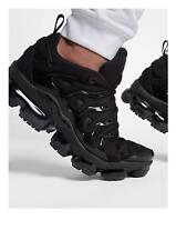 Nike Air Vapormax plus entrenadores UK Size 9.5 EU44.5 en Negro/Negro-Gris Oscuro Raro