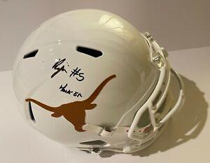 BIJAN ROBINSON Signed Texas LONGHORNS F/S Replica Riddell Football Helmet BAS