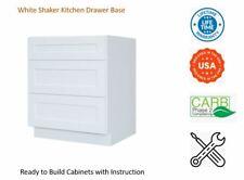 White Shaker Kitchen Drawer Base Cabinet