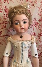 Antique Beautiful BRU Jne French Reproduction Bisque Artist Made Doll 29""