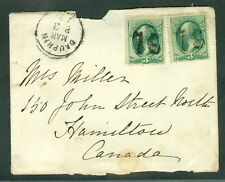 """1878, Dauphin, PA """"76"""" fancy cancels cover to Canada"""