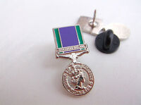 GSM GENERAL SERVICE MEDAL NORTHERN IRELAND HM ARMED FORCES ARMY LAPEL PIN BADGE