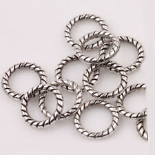 100Pcs Tibetan Silver Circle Spacer Bead Charm Bracelet Jewelry Craft 8mm DIY