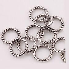 100Pcs Circle Tibetan Silver Spacer Bead Charm Retro Bracelet Jewelry Craft 8mm