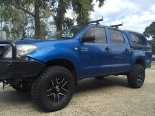 New 16x8 4WD BLACK Wheels For 79, 80 and 100 Series Landcruiser,HILUX,RODEO