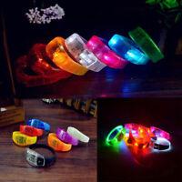 Light Voice Control LED Bracelet Flash Bangle Sound Activated Glow Wristband
