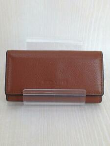 COACH  Leather Leather Brown Fashion Key case 430 From Japan
