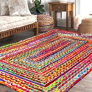 Natürliche Jute und Baumwoll-rechteckige gewebte Teppiche Wendbarer Bodenmatten