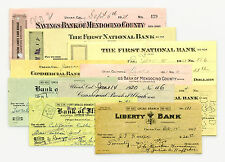 10 different California USA bank checks early 1900's nice used