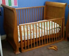 3 in 1 Sleigh Timber Cot / Toddler Bed / Lounge & matching Change Table