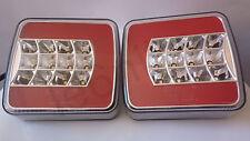 2x 12/24 VOLT 16 LED REAR TAIL LIGHT LAMP TRAILER VAN LORRY TRUCK 4 FUNCTION E4