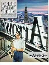 PUBLICITE ADVERTISING 0217  1984   les chemises américaines homme  Arrow