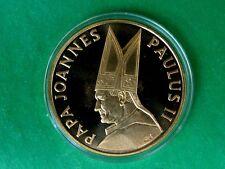 Giovanni PAOLO II GRANDE MEDAGLIA/MEDAL. rilasciato dalla banca lettone baltija a Visita Papale