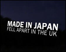 Made in Japan Fell apart UK Decal Sticker JDM Vehicle Bike Bumper Graphic Funny