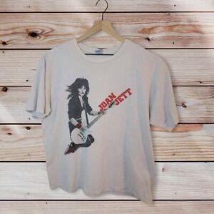 Rare Joan Jett Gildan Jumping Red Accent T-Shirt Size XL