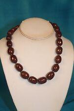 "NEW - KAZURI 18"" Mini Charleston Beaded Necklace Brown sku #1893"