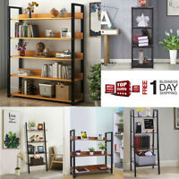 5 Tier Wood Bookcase Wall Shelf Ladder Bookshelf Storage Display Rack Furniture