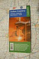 INDIAN COUNTRY ROAD MAP TOUR GUIDE STREET AAA ARIZONA COLORADO UTAH NEW MEXICO