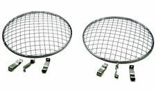 """Ford falcon 7"""" Flat & Curved Headlight Cover Stone Guard Stainless Mesh Pair"""