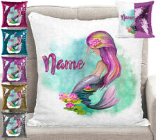 Personalised Mermaid Magic Sequin Cushion Pillow Cover 6 Colours