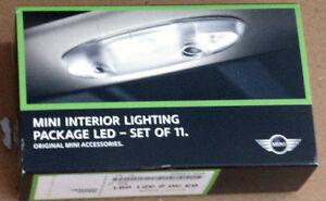 Mini Cooper OEM LED 11 Piece Interior Light Package Bulb Upgrade Kit R60 R61 R55