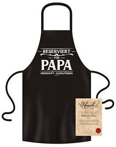 Vatertagsgeschenk Reserviert für Papa Geschenk Vatertag Grillschürze schwarz
