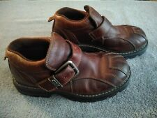GBX Mens Ankle Boots Size 8M Strap Buckle Brown Leather.