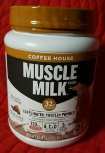 Muscle Milk - Caffeinated Protein - 1.93 lbs Coffee House - Mocha Latte - 1/2022