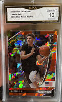 2020 Panini Prizm Lamelo Ball Rookie Red Ice Cracked #3 GEM MINT 10 Hornets SP