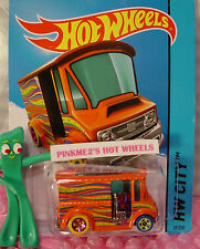 Case P 2015 Hot Wheels BREAD BOX Delivery Truck #29∞Orange;Magenta/yellow∞