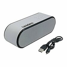 NEW ~ Uniden UNPN251 Portable Bluetooth Speaker Enchanced Bass, White ~ Free S/H