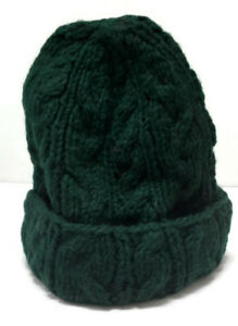 Adult Unisex Cable Design Beanie Handknitted in Nepal from 100% Pure Wool.