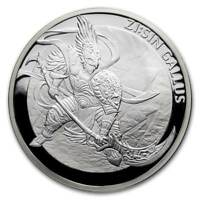 ZI:SIN GALLUS TWELVE GUARDIANS - 2017 1 Clay 1 oz Pure Silver Proof Medal KOMSCO
