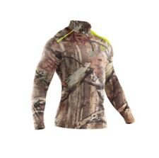 Under Armour Mossy Oak Infinity Scent Control 1/4 Zip Base Layer Top-L