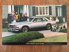 1979 Buick LeSabre Sport Coupe Postcard Sales Brochure Excellent Original 79
