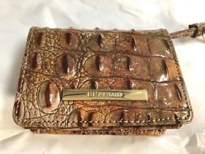 Brahmin Canyon  Melbourne MINI Card Wallet with Key Ring Small Bifold ID Holder